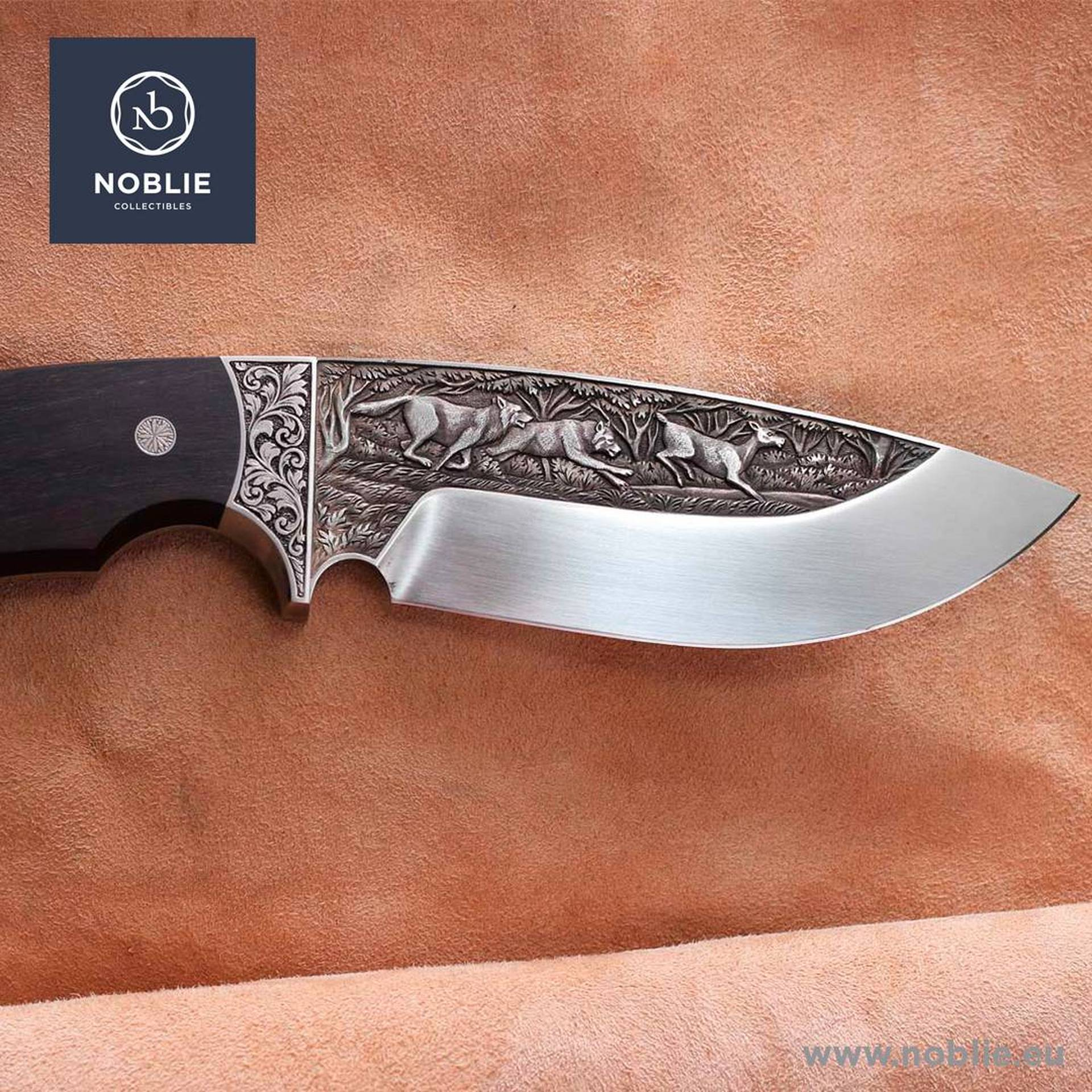engraved hunting knives
