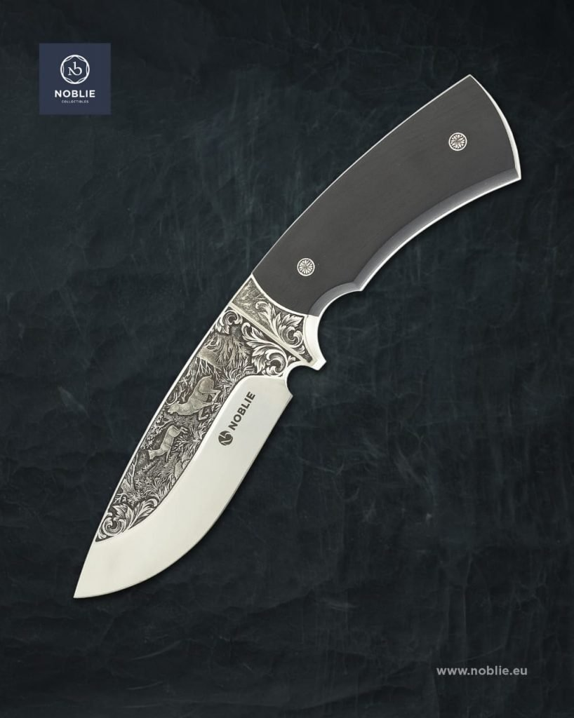engraved hunting knife 1